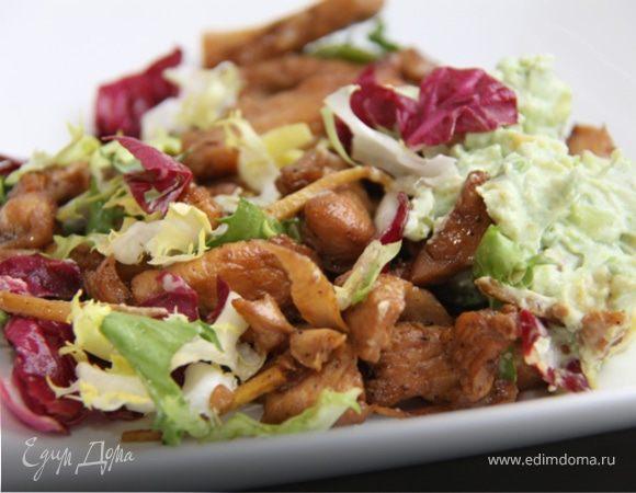 Медово-имбирная курица с авокадо и сыром! И 381 ккал. в 1 порции:-)