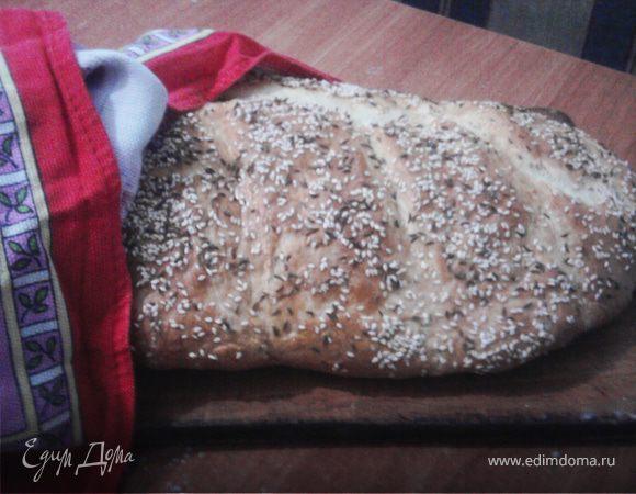 Хлеб (на каждый день) с кунжутом и тмином