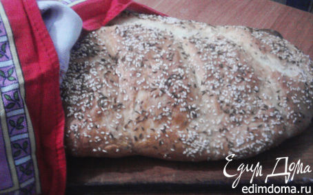 Рецепт Хлеб (на каждый день) с кунжутом и тмином