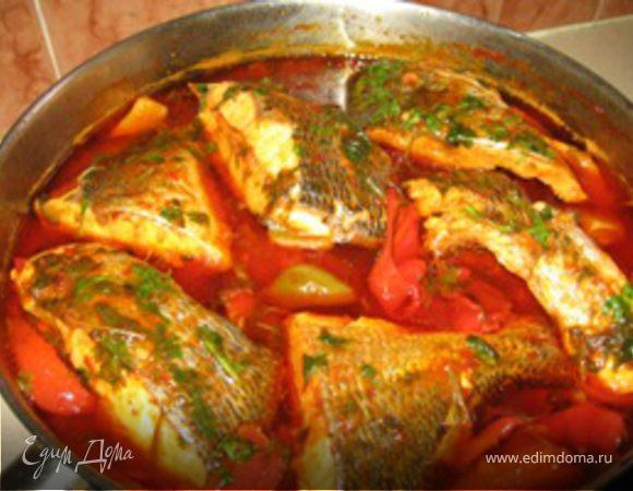 Рыба острая по - мароккански (тунец)