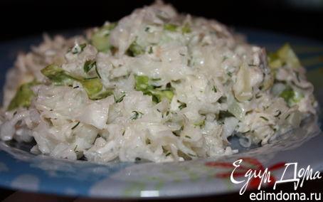 """Рецепт Салат из корейской закуски """"Белые гребешки"""""""