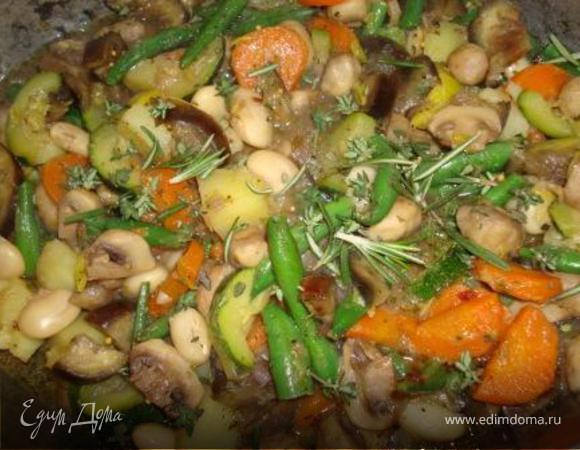 Овощное рагу с шампиньонами