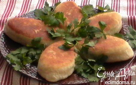 """Рецепт Пирожки """"Зимние"""" с домашним паштетом и картофелем"""