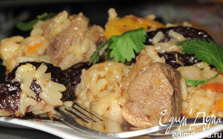 Рецепт Плов с бараниной и сухофруктами