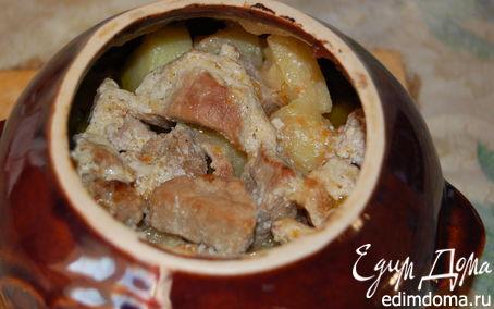 Рецепт Жаркое со свининой в горшочках