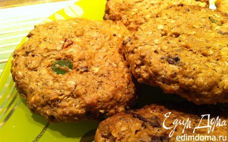 Рецепт Шоколадно-вишневое овсяное печенье