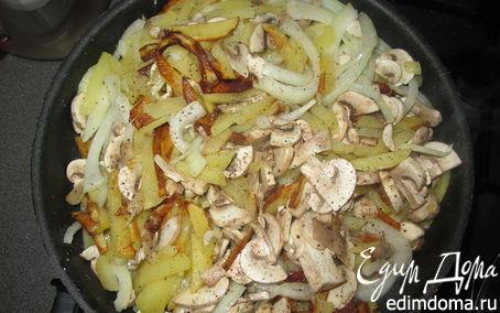 Рецепт Жаренная картошечка с грибами