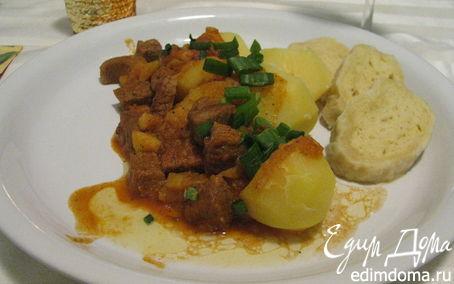 Рецепт Тушеная говядина с кнедлями