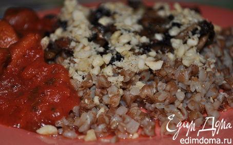 Рецепт Гречка с грибами и орешками