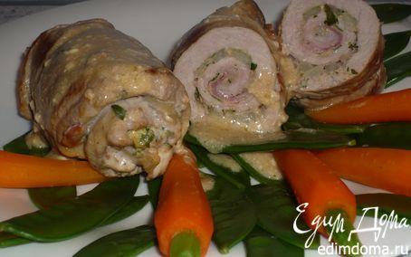Рецепт Рулеты из свинины с горчицей и петрушкой
