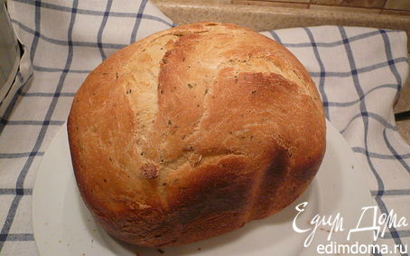 Рецепт итальянский хлеб на кислом молоке с травами в хлебопечке