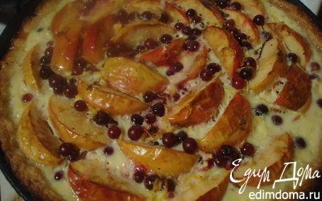 Рецепт Эльзасский пирог с яблоком и клюквой