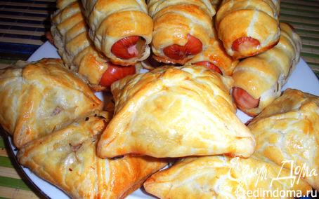 Рецепт Сосиски в тесте и мясные конвертики на скорую руку