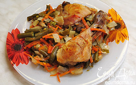Рецепт Курица с овощами в рукаве