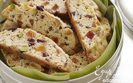 Рецепт Бисквит с орехами и фруктами