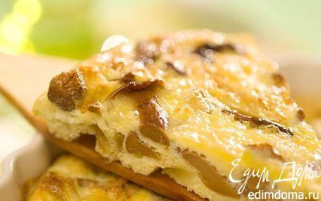 Рецепт Омлет с лисичками (сытный завтрак)