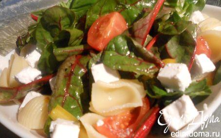 Рецепт Овощной салат с пастой, фетой и базиликом