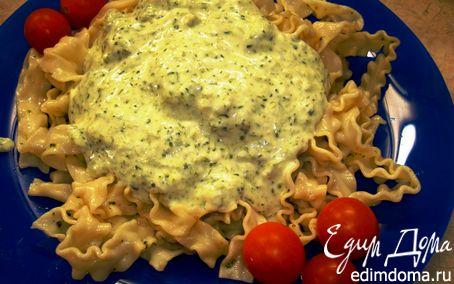 Рецепт Регинетте с брокколи в сливочным соусом
