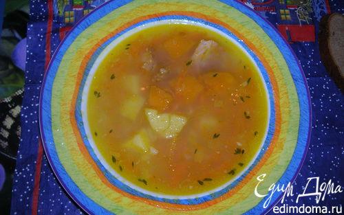Рецепт Гороховый суп с тыквой