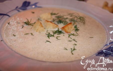 Рецепт Ароматный грибной суп-пюре из шампиньонов с тимьяном