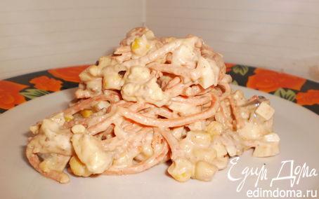 Рецепт Печеночный салат с корейской морковкой