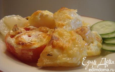 Рецепт Картофель, запеченный в сметане