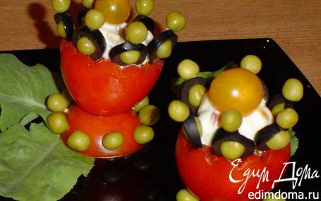 Рецепт Овощная закуска в салатнице из помидора