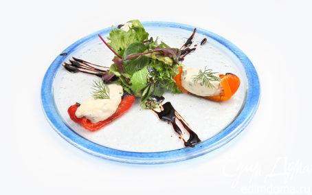 Рецепт Печеный сладкий перец с сырными кнелями