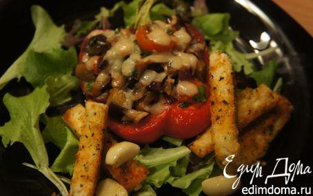 Рецепт Перец, запеченный с овощами и пармеджано