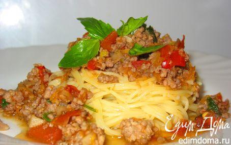 Рецепт Вolognese c красным перцем и грибами