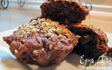 Рецепт Шоколадные кексы с изюмом и ...яблоком