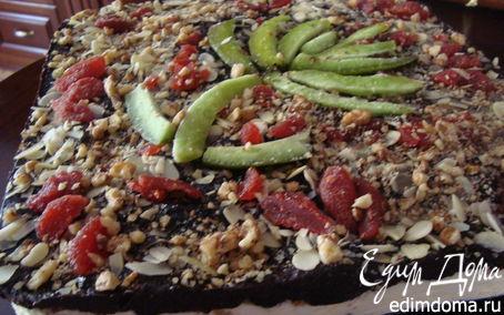 Рецепт Творожно -шоколадный торт с засушенными фруктами и орехами.