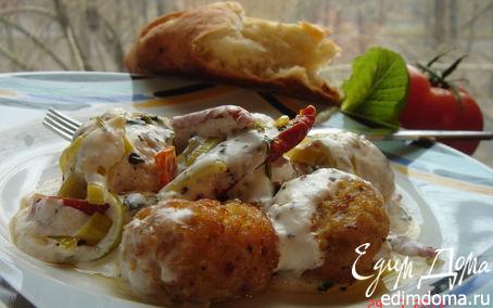Рецепт Куриные тефтельки в йогуртовом соусе(к изумительной фокачче)