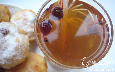 Рецепт Янтарный напиток из шиповника для детей