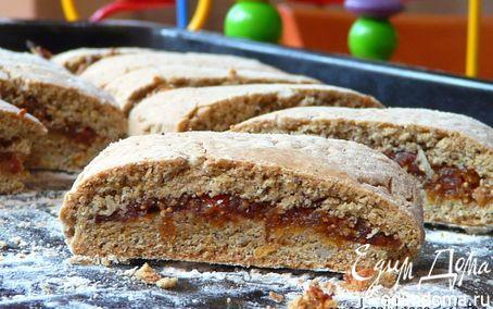 Рецепт Печенье из цельнозерновой муки с начинкой из сухофруктов