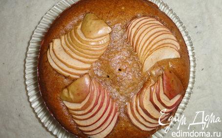 Рецепт Постная коврижка с яблоками и корицей