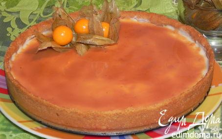 Рецепт Снежный тарт с карамельным соусом