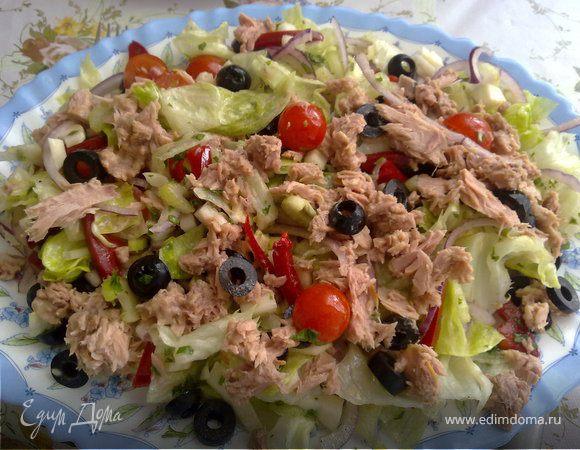 Салат из тунца и фенхеля по-тоскански