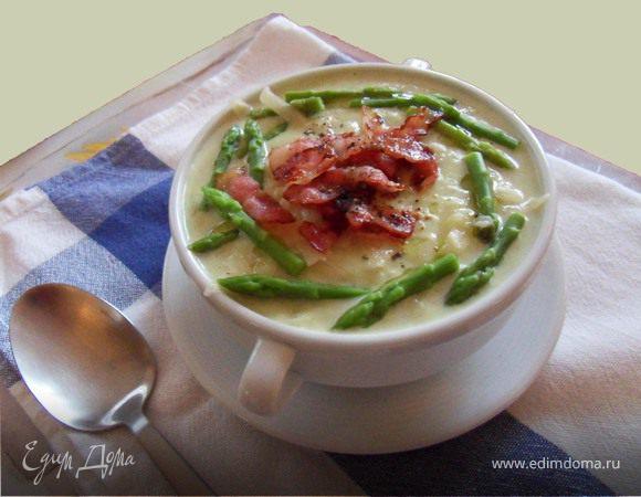 Суп-пюре из белой спаржи
