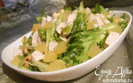 Рецепт Салат с индейкой, кешью и апельсиновым желе