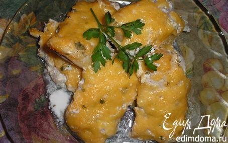 Рецепт Филе Пангасиуса,запеченное в сметане.