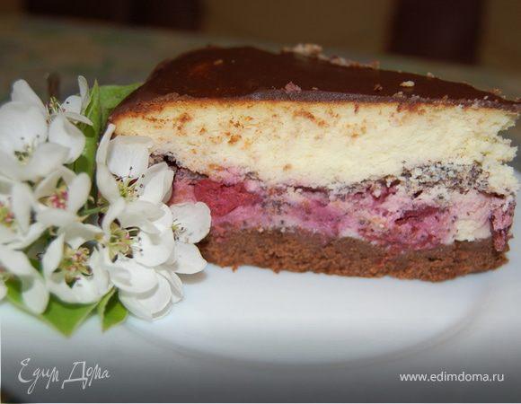Вишнево-шоколадный сырник