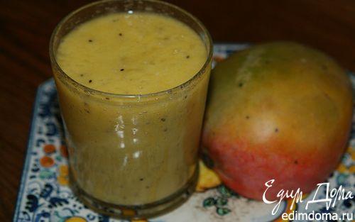 Рецепт Коктейль из ананаса, манго и киви