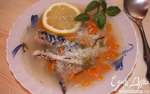 Рецепт Суп из скумбрии с розмарином и лимоном