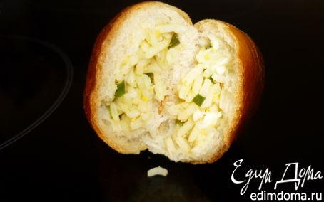 Рецепт Пирожки с рисом, яйцом и зеленым луком