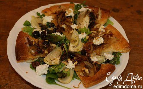 Рецепт Салат из фенхеля с козьим сыром и кедровыми орешками