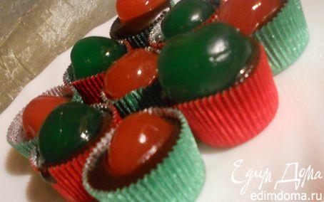 Рецепт Мягкие шоколадные конфеты с ромом и вишней