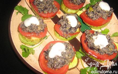 Рецепт Закуска из молодых кабачков с оливадой