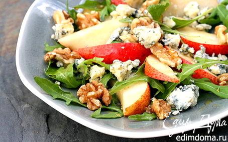 Рецепт Салат из груши с голубым сыром под соусом Vinaigrette