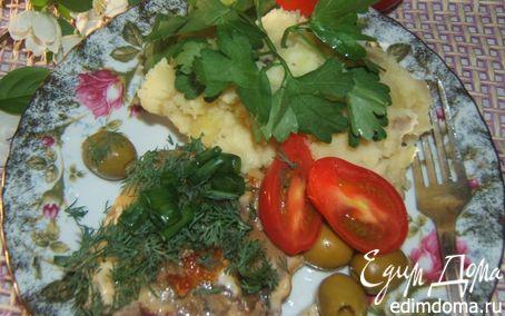 Рецепт Телятина молодая запеченная с сыром и грибами ;)